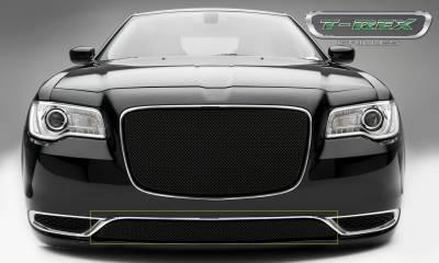 Sport Series Grilles - T-REX Chrysler 300 - Sport Series - Bumper Grille Overlay  with Black Powder Coat Finish - Pt # 47436