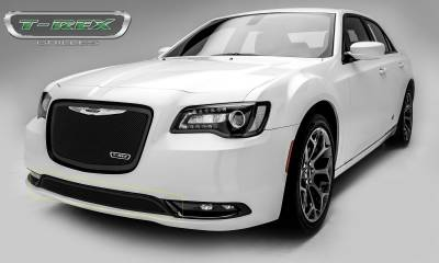 Clearance - Chrysler 300 - Upper Class Series - Bumper Grille Overlay with Black Powder Coat Finish - Pt # 52436