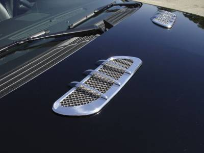 Emblems, Logoz and DIY Components - Side Vents and Accessories - Universal Hood Vents -  Pt # 54015