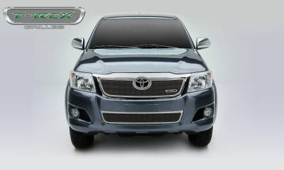 T-REX Grilles - 2012-2015 Toyota Hilux Upper Class Grille, Chrome, 1 Pc, Overlay - PN #56909