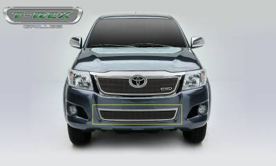 T-REX Grilles - 2012-2015 Toyota Hilux Upper Class Bumper Grille, Chrome, 1 Pc, Overlay - PN #57909