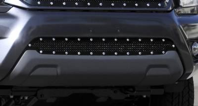 Stealth Metal Grilles - T-REX Toyota Tacoma Stealth Metal Tactical Black Studded Bumper Grille - Pt # 6729381-BR