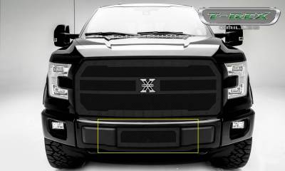 X-Metal Series Grilles - T-REX Ford F-150 V8 - X-Metal Series - Bumper Grille Insert with Black Powdercoat Finish - Pt # 6725741