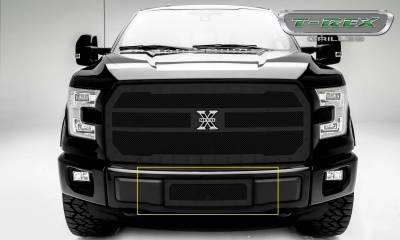 X-Metal Series Grilles - T-REX Grilles - Ford F-150 V8 - X-Metal Series - Bumper Grille Insert with Black Powdercoat Finish - Pt # 6725741