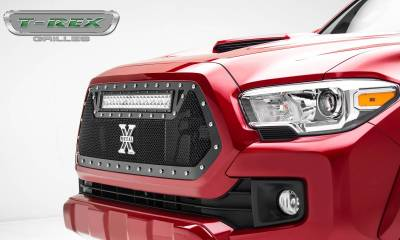 "T-REX Grilles - 2016-2017 Tacoma Torch Grille, Black, 1 Pc, Insert, Chrome Studs, Incl. (1) 20"" LED - PN #6319411 - Image 2"