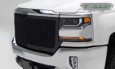 Upper Class Series Grilles - T-REX Chevrolet Silverado 1500 Upper Class Mesh Grille, Black Powder Coated, Full Opening Design 1 Pc Main Grille Replacement - Pt # 51127