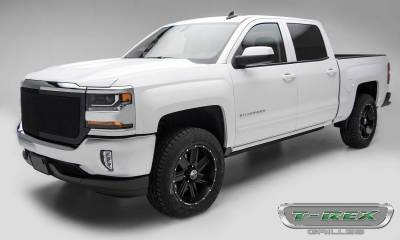 T-REX Grilles - 2016-2018 Silverado 1500 Upper Class Grille, Black, 1 Pc, Replacement, Full Opening - PN #51127 - Image 2