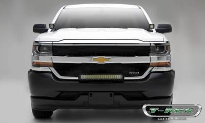 T-REX Grilles - Chevrolet Silverado 1500 (Does Not Fit Z71) Laser Billet Grille, Overlay - Black - Pt # 6211271