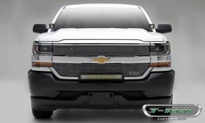 Laser Billet Grilles - T-REX Grilles - Chevrolet Silverado 1500 (Does Not Fit Z71) Laser Billet Grille, Overlay - Polished - Pt # 6211270