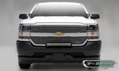 Laser Billet Grilles - Chevrolet Silverado 1500 Laser Billet Grille, Overlay - Polished- Pt # 6211270