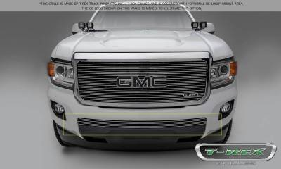 T-REX Grilles - 2015-2019 GMC Canyon Billet Bumper Grille, Polished, 1 Pc, Insert - PN #25371 - Image 2