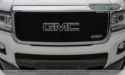 Billet Series Grilles - GMC Canyon Billet Bumper Grille, Overlay - Black - Pt # 25371B
