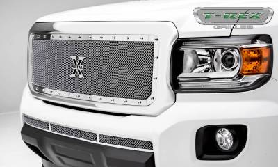 T-REX Grilles - 2015-2019 GMC Canyon X-Metal Grille, Polished, 1 Pc, Insert, Chrome Studs - PN #6713710 - Image 1