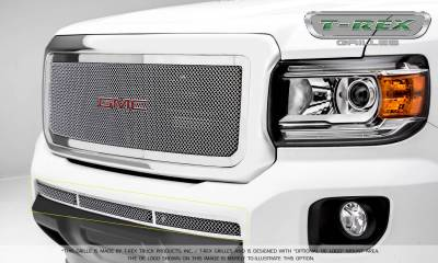 Clearance - GMC Canyon Upper Class Bumper Grille, Overlay - Polished - Pt # 55371