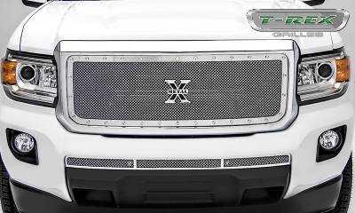 T-REX Grilles - 2015-2019 GMC Canyon X-Metal Grille, Polished, 1 Pc, Insert, Chrome Studs - PN #6713710 - Image 2