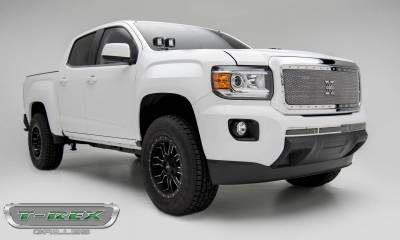 T-REX Grilles - 2015-2019 GMC Canyon X-Metal Grille, Polished, 1 Pc, Insert, Chrome Studs - PN #6713710 - Image 3