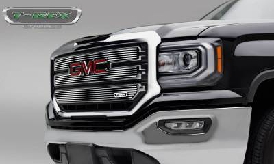 Billet Series Grilles - GMC Sierra 1500 SLE - Laser Billet Main Grille - 3 PC Overlay - Polished - Pt # 6212130