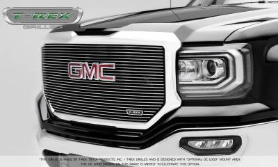 T-REX Grilles - 2016-2018 Sierra 1500 Laser Billet Grille, Polished, 1 Pc, Insert, with Logo Cutout - PN #6202130 - Image 1