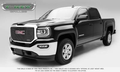 T-REX Grilles - 2016-2018 Sierra 1500 Laser Billet Grille, Polished, 1 Pc, Insert, with Logo Cutout - PN #6202130 - Image 2