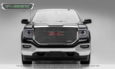 T-REX Grilles - 2016-2018 Sierra 1500 Laser Billet Grille, Polished, 1 Pc, Insert, with Logo Cutout - PN #6202130 - Image 3