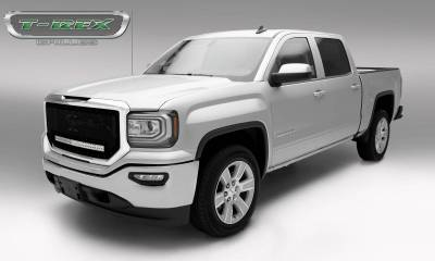 "T-REX Grilles - 2016-2018 Sierra 1500 Stealth Torch Grille, Black, 1 Pc, Insert, Black Studs, Incl. (1) 30"" LED - PN #6312131-BR - Image 2"