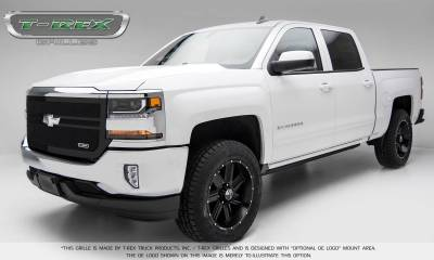 T-REX Grilles - 2016-2018 Silverado 1500 Upper Class Grille, Black, 1 Pc, Replacement, 2 Bar Design - PN #51133 - Image 2