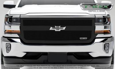 T-REX Grilles - 2016-2018 Silverado 1500 Upper Class Grille, Black, 1 Pc, Replacement, 1 Bar Design - PN #51131
