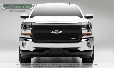 T-REX Grilles - 2016-2018 Silverado 1500 Upper Class Grille, Black, 1 Pc, Replacement, 1 Bar Design - PN #51131 - Image 2