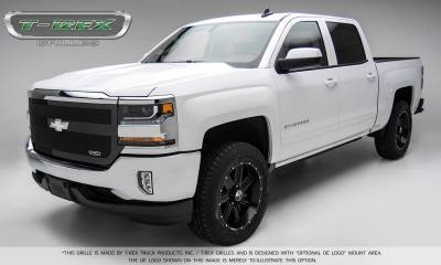 T-REX Grilles - 2016-2018 Silverado 1500 Upper Class Grille, Black, 1 Pc, Replacement, 1 Bar Design - PN #51131 - Image 3