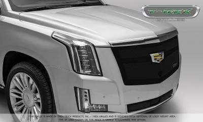 T-REX Grilles - 2015-2019 Escalade Upper Class Grille, Black with Brushed Center Trim Piece, 1 Pc, Replacement, Fits Vehicles with Camera - PN #51181 - Image 6