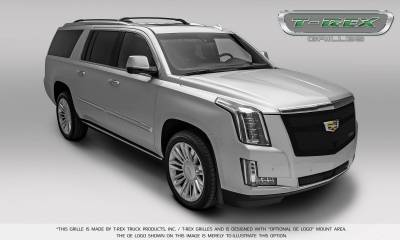 T-REX Grilles - 2015-2019 Escalade Upper Class Grille, Black with Brushed Center Trim Piece, 1 Pc, Replacement, Fits Vehicles with Camera - PN #51181 - Image 5