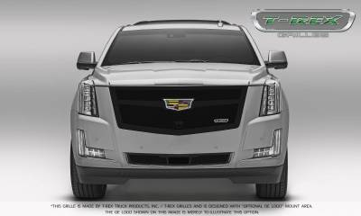 T-REX Grilles - 2015-2019 Escalade Upper Class Bumper Grille, Black, 1 Pc, Replacement, with Adaptive Cruise Control - PN #52189 - Image 6