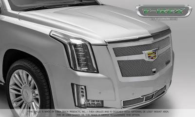 T-REX Grilles - 2015-2019 Escalade Upper Class Bumper Grille, Chrome, 1 Pc, Replacement, Fits Vehicles with Adaptive Cruise Control - PN #57189 - Image 2