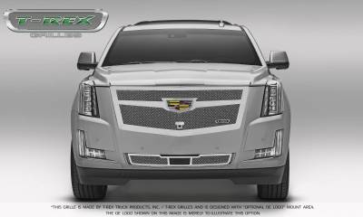 T-REX Grilles - 2015-2019 Escalade Upper Class Bumper Grille, Chrome, 1 Pc, Replacement, Fits Vehicles with Adaptive Cruise Control - PN #57189 - Image 4