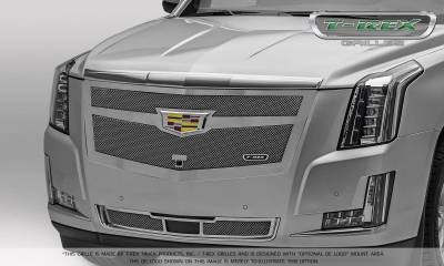 T-REX Grilles - 2015-2019 Escalade Upper Class Grille, Chrome, 1 Pc, Replacement, Fits Vehicles with Camera - PN #56181