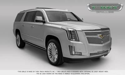 T-REX Grilles - 2015-2019 Escalade Upper Class Grille, Chrome with Brushed Center Trim Piece, 1 Pc, Replacement, Fits Vehicles with Camera - PN #56189 - Image 7