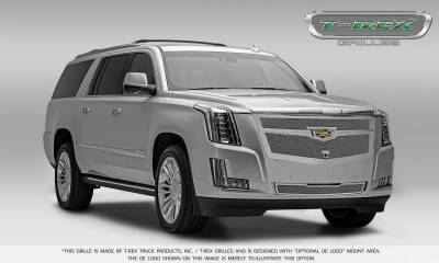 T-REX Grilles - 2015-2019 Escalade Upper Class Grille, Chrome with Brushed Center Trim Piece, 1 Pc, Replacement, Fits Vehicles with Camera - PN #56189 - Image 8