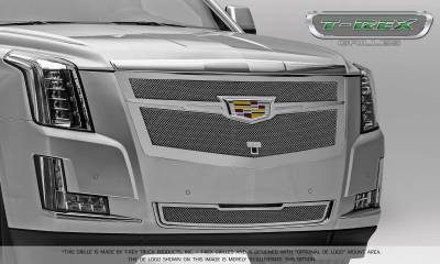T-REX Grilles - 2015-2019 Escalade Upper Class Grille, Chrome with Brushed Center Trim Piece, 1 Pc, Replacement, Fits Vehicles with Camera - PN #56189 - Image 9