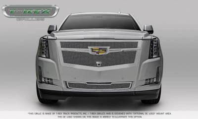 T-REX Grilles - 2015-2019 Escalade Upper Class Grille, Chrome with Brushed Center Trim Piece, 1 Pc, Replacement, Fits Vehicles with Camera - PN #56189 - Image 5