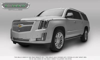 T-REX Grilles - 2015-2019 Escalade Upper Class Grille, Chrome with Chrome Center Trim Piece, 1 Pc, Replacement, Fits Vehicles with Camera - PN #56191 - Image 4