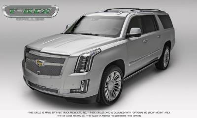 T-REX Grilles - 2015-2019 Escalade Upper Class Grille, Chrome with Chrome Center Trim Piece, 1 Pc, Replacement, Fits Vehicles with Camera - PN #56191 - Image 3