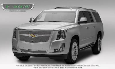T-REX Grilles - 2015-2019 Escalade Upper Class Grille, Chrome with Chrome Center Trim Piece, 1 Pc, Replacement, Fits Vehicles with Camera - PN #56191 - Image 2