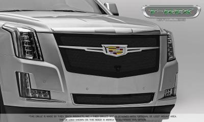T-REX Grilles - 2015-2019 Escalade Upper Class Grille, Black with Chrome Plated Center Trim Piece, 1 Pc, Replacement, Fits Vehicles with Camera - PN #51191 - Image 9