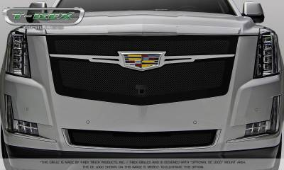 T-REX Grilles - 2015-2019 Escalade Upper Class Grille, Black with Chrome Plated Center Trim Piece, 1 Pc, Replacement, Fits Vehicles with Camera - PN #51191 - Image 6