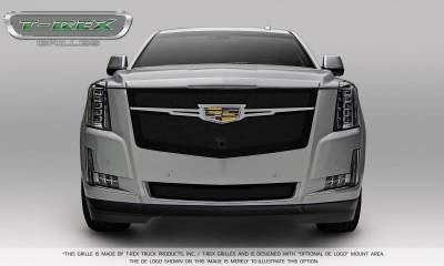 T-REX Grilles - 2015-2019 Escalade Upper Class Grille, Black with Chrome Plated Center Trim Piece, 1 Pc, Replacement, Fits Vehicles with Camera - PN #51191 - Image 5