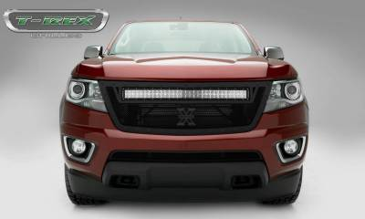 "T-REX Grilles - 2015-2019 Chev Colorado Stealth Torch Grille, Black, 1 Pc, Replacement, Black Studs, Incl. (1) 30"" LED - PN #6312671-BR - Image 3"