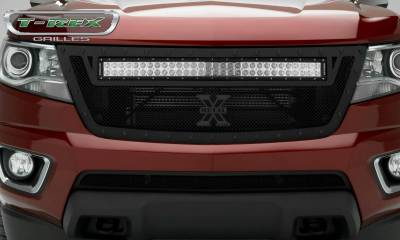 "T-REX Grilles - 2015-2019 Chev Colorado Stealth Torch Grille, Black, 1 Pc, Replacement, Black Studs, Incl. (1) 30"" LED - PN #6312671-BR - Image 4"