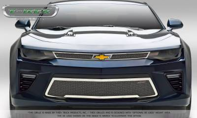 T-REX Grilles - 2016-2018 Camaro Upper Class Series Main Grille, Polished, 2 Pc, Overlay, V8 - PN #54035 - Image 3