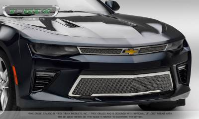 T-REX Grilles - 2016-2018 Camaro Upper Class Series Main Grille, Polished, 2 Pc, Overlay, V8 - PN #54035 - Image 6