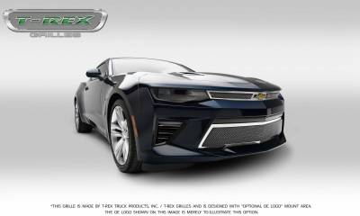 Upper Class Series Grilles - T-REX Grilles - Chevrolet Camaro SS - Upper Class - Main Grille Overlay with Polished Stainless Steel - Pt # 54035